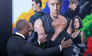 Les acteurs Tyrese Gibson et Vin Diesel à l'avant-première de «Fast and Furious 9» à Los Angeles