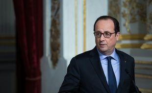 François Hollande pendant une conférence de presse à l'Elysée
