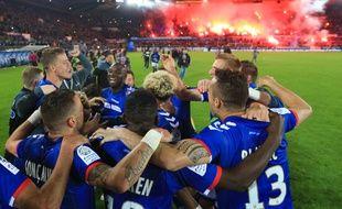Strasbourg est allé chercher sa remontée en Ligue 1 en s'offrant au passage le titre de Ligue 2 !