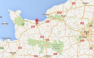 localisation de Caen (Calvados)