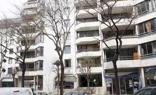 L'immeuble dans lequel habite Georges Tron, secrétaire d'état à la Fonction publique, Paris, le 24 mars 2010.