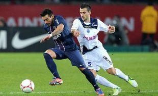 Ezequiel Lavezzi lors du match contre Troyes le samedi 24 novembre 2012.