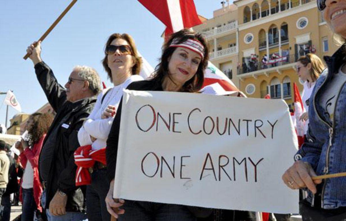 Une manifestation anti-Hezbollah, le 13 mars 2011 à Beyrouth. – David Hury / 20minutes.fr