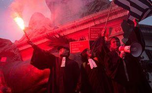 Mobilisation des avocats pour protester contre la réforme des retraites (Archives)