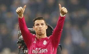 Cristiano Ronaldo après le match entre Schalke 04 et le Real Madrid le 18 février 2015.