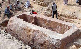Une sépulture découverte dans la cité antique d'Abydos en 2014.