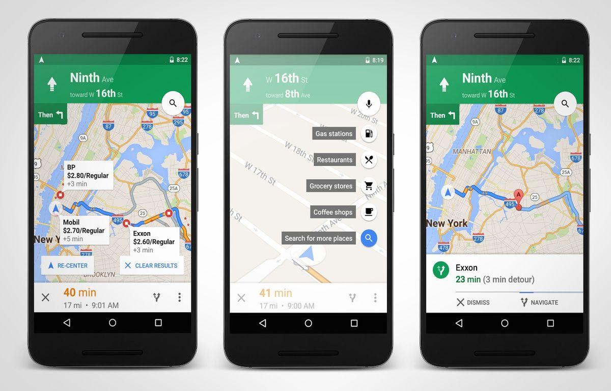 L'application Google Maps sur Android. – GOOGLE