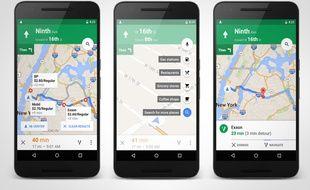 L'application Google Maps sur Android.