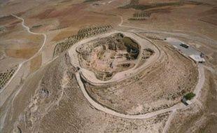 Vue aérienne du palais d'Hérodion publiée le 8 mai par le gouvernement isralien.