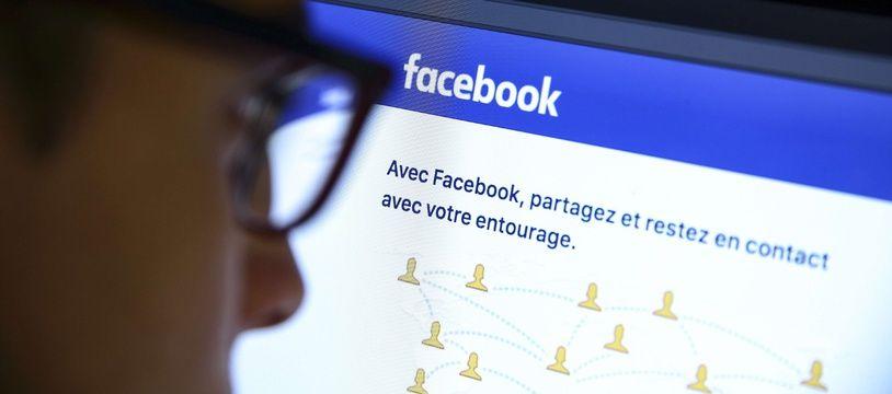 Illustration de la page d'accueil du réseau social Facebook