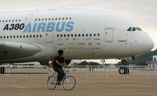 Un Airbus à l'aéroport de Zhu Hai en Chine en 2008.