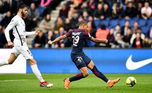 Mbappé contre Metz au Parc des Princes.