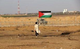 Un manifestant à la frontière avec Israël, sur le bande de Gaza. (archives)