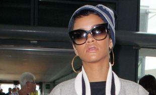 Rihanna à l'aéroport de Londres le 10 septembre 2012.