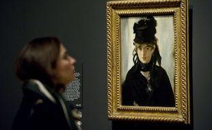 Cette peinture est un autre tableau d'Edouard Manet représentant Berthe Morizot en 1872.