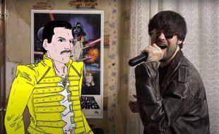 Les «Fat bottomed boys» en duo virtuel avec Freddy Mercury.