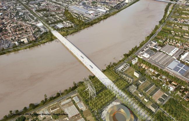 Vue aérienne du futur pont Simone-Vei