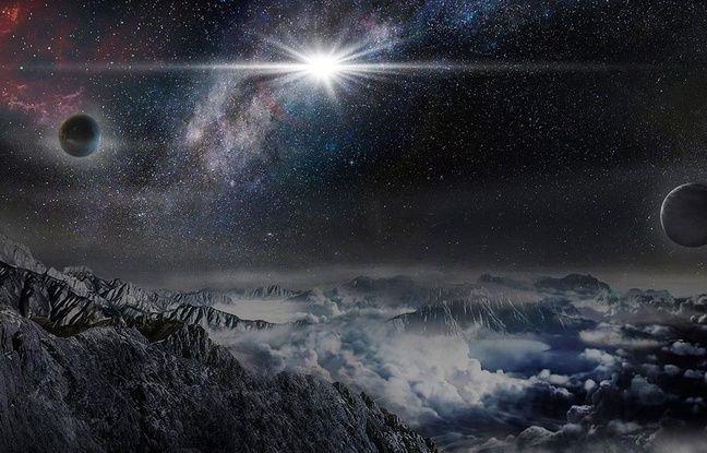 Vue d'artiste de la supernova ASAS-SN-15lh observée en juin 2015 au Chili.