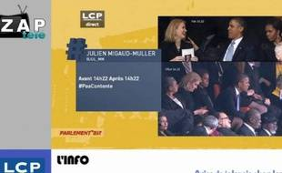 Capture d'écran du zap actu du 12 décembre 2013.