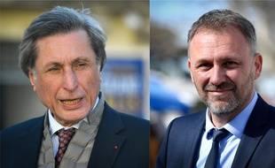 Patrick de Carolis (G), candidat centriste, et Nicolas Koukas (D), candidat d'une union de la gauche.