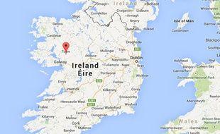 Géolocalisation de la ville de Tuam (Irlande)