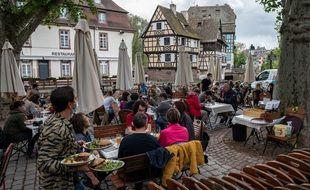 Les terrasses ont repris vie à Strasbourg.