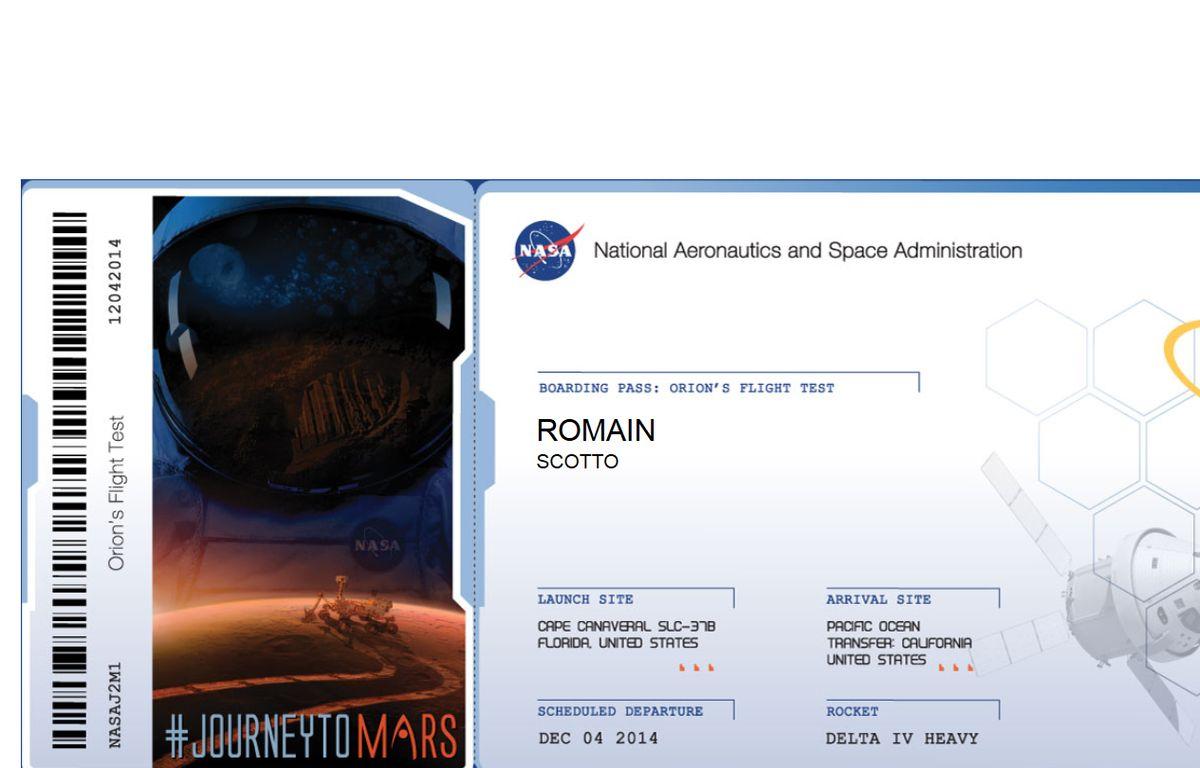 Un billet virtuel pour la planète Mars émis par la Nasa. – 20Minutes