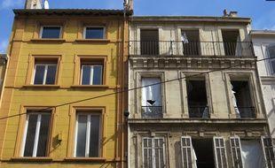 Un immeuble dans le centre-ville de Marseille. Illustration.