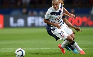 Wahbi Khazri, le joueur des Girondins, lors du match PSG-Bordeaux joué le 11 septembre 2015.