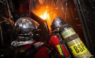 Les pompiers de la BSPP en intervention à Vincennes.