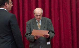L'ancien mineur gréviste Norbert Gilmez a été reçu à L'Elysée, le 28 septembre 2016.