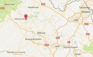 La commune d'Isbergues, dans le Pas-de-Calais.