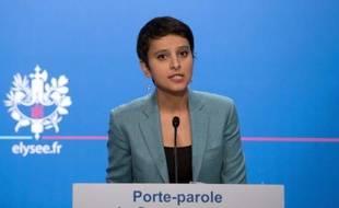 """Najat Vallaud-Belkacem, porte-parole du gouvernement, a jugé jeudi """"légitime"""" le débat sur le mariage homosexuel, mais pas comme celui sur le Pacs en 1999, émaillé d'""""insultes""""."""