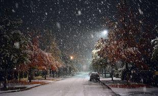 Les premiers flocons de neige tombés en novembre 2019, dans l'Est de la France.