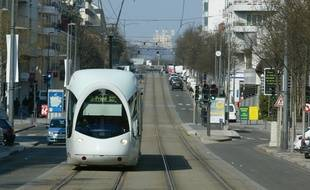 Tram T2 à Lyon (Illustration)