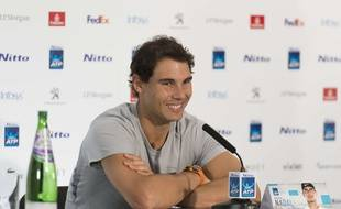Rafael Nadal en conférence de presse avant le Masters de fin d'année, le 10 novembre 2017 à Londres.