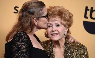 Carrie Fisher et Debbie Reynolds à Los Angeles en janvier 2015.