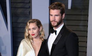 Miley Cyrus et son fiancé Liam Hemsworth