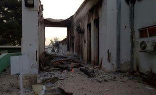 L'hôpital de l'ONG Médecins sans Frontières après une frappe aérienne, le 3 octobre 2015 à Kunduz, en Afghanistan