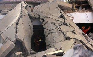 Un restaurant s'est effondré samedi 29 août 2020 en Chine.