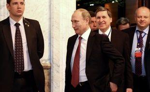 Vladimir Poutine lors des négociations à Minsk pour trouver un accord de paix en Ukraine.