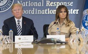Donald et Melania Trump ont participé à une réunion à  l'agence fédérale des situations d'urgence, le 6 juin 2018.