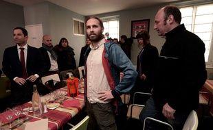 Le militant altermondialiste Jon Palais, ici avec Benoît Hamon
