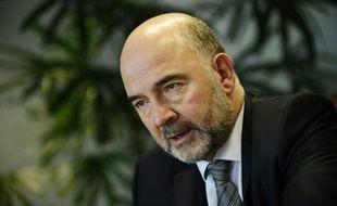 Le commissaire européen aux Affaires économiques, Pierre Moscovici au siège de l'UE à Bruxelles, le 29 octobre 2015