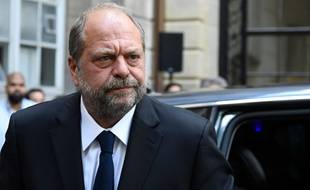 Eric Dupond-Moretti, nouveau garde des Sceaux, le 7 juillet 2020 à Paris, avant la passation de pouvoir avec Nicole Belloubet, à laquelle il succède.