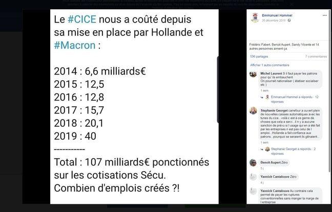 Le coût de 40 milliards d'euros pour le CICE en 2019 est régulièrement avancé. Est-il juste ?
