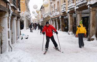 Madrid sous la neige, le 9 janvier 2021.
