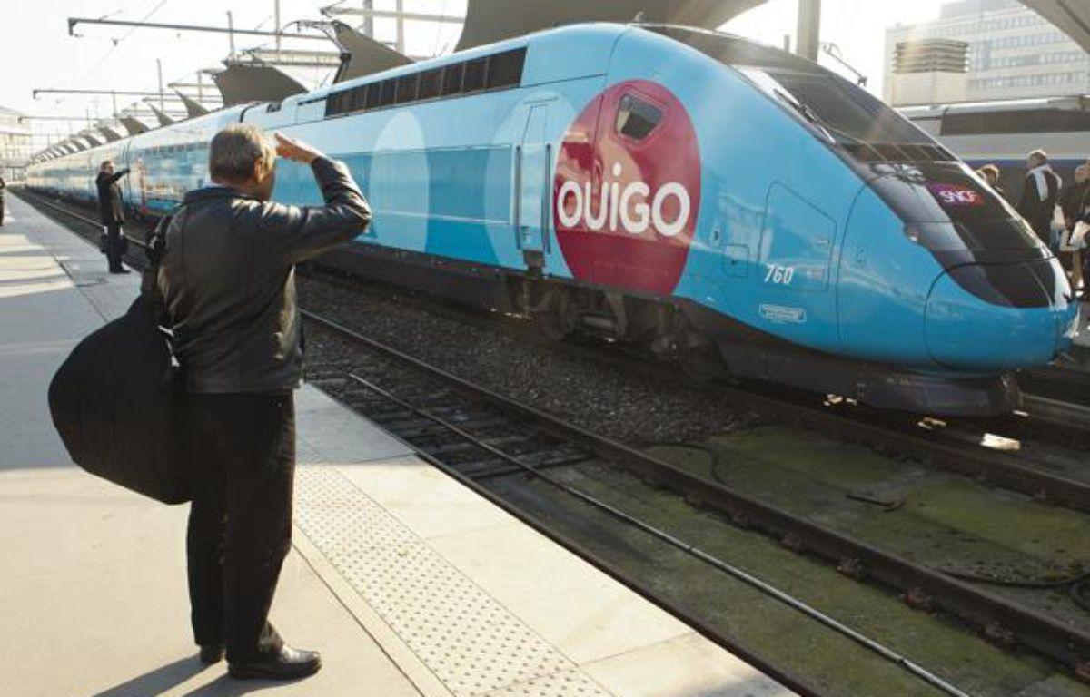 Présentation du nouveau train TGV «OuiGo» low cost de la SNCF, à Paris le 19 février 2013. – no credit