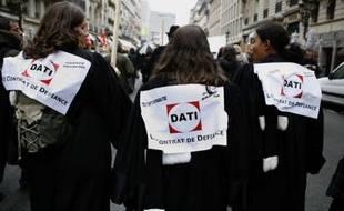 La mobilisation contre la réforme de la carte judiciaire a atteint son point d'orgue ce jeudi, avec des manifestations un peu partout en France.