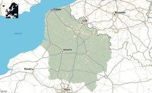 La ville de Calais, dans le Pas-de-Calais.